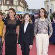 """Audrey Dana, Christine & The Queens et Anne Berest - Avant-première du film """"Sin City"""" lors du 40ème festival du cinéma américain de Deauville, le 13 septembre 2014."""