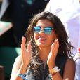 Noura, l'amoureuse de Jo-Wilfried Tsonga, à Paris le 12 septembre 2014 lors de la demi-finale de la Coupe Davis entre la France et la Republique Tchèque à Roland-Garros