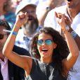 Noura, compagne de Jo-Wilfried Tsonga, à Paris le 12 septembre 2014 lors de la demi-finale de la Coupe Davis entre la France et la Republique Tchèque à Roland-Garros