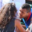 La jolie Noura, compagne de Jo-Wilfried Tsonga, à Paris le 12 septembre 2014 après la demi-finale de la Coupe Davis entre la France et la Republique Tchèque à Roland-Garros