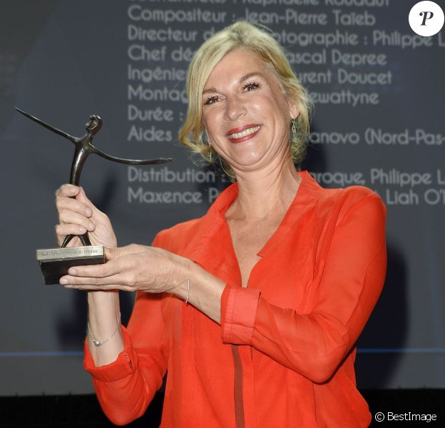 """Michèle Laroque (Prix de la meilleure interprète féminine pour """"Un fils"""") - Clôture du 16e Festival de la Fiction TV à La Rochelle, le 13 septembre 2014."""