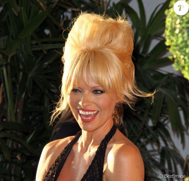 Pamela Anderson, spectaculaire lors du gala de la fondation Mercy For Animals au London Hotel de Los Angeles, le 12 septembre 2014