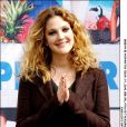 Drew Barrymore lors du photocall d'Amour et Amnésie à Madrid le 21 avril 2004