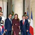 La reine Rania et le roi Abdullah II de Jordanie étaient reçus le 17 septembre 2014 à l'Elysée par le président François Hollande pour un dîner de travail.