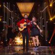 Kendji Girac, invité d'honneur de la finale de The Voice Kids, sur TF1, le samedi 20 septembre 2014.
