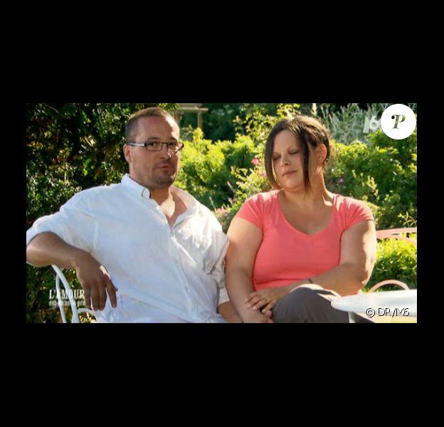 Christophe et Christelle dans L'amour est dans le pré 2014 - le bilan -, le lundi 15 septembre 2014 sur M6. Le couple vient de se séparer.