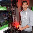 """Florent Manaudou - Soirée de lancement du jeu vidéo """"FIFA 2015"""" à l'Opéra Garnier Restaurant à Paris le 22 septembre 2014."""