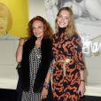 """Exclusif - Diane von Fürstenberg et Natalia Vodianova - Les Galeries Lafayette lancent la Fashion Week avec Diane von Fürstenberg lors du vernissage de l'exposition """"Fashion Icons"""" devant la vitrine boulevard Haussmann à Paris, le 24 septembre 2014."""