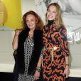 """Exclusif - Diane von Fürstenberg et la sublime russe Natalia Vodianova - Les Galeries Lafayette lancent la Fashion Week avec Diane von Fürstenberg lors du vernissage de l'exposition """"Fashion Icons"""" devant la vitrine boulevard Haussmann à Paris, le 24 septembre 2014."""
