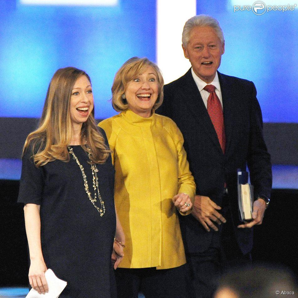 Chelsea Clinton, Hillary Clinton et Bill Clinton à la 10e rencontre annuelle des Clinton Global Initiative à New York, le 23 septembre 2014