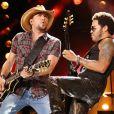 Lenny Kravitz et Jason Aldean à Nashville, le 8 juin 2013.