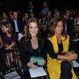 Katia Toledano et Carla Bruni au défilé Dior printemps/été 2015 à Paris le 26 septembre 2014
