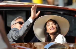 George Clooney et Amal Alamuddin, mariage civil : Sublimes, ils se sont dit oui