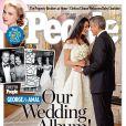 Les mariés George Clooney et Amal Alamuddin en couverture du magazine People