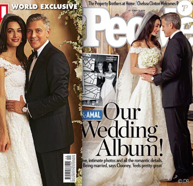 George Clooney et Amal Alamuddin : les mariés en couverture des magazines Hello! et People