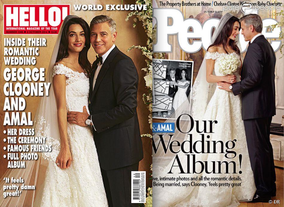 Mariage de George Clooney et Amal Alamuddin  Les photos des superbes  mariés !