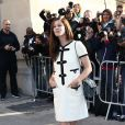 """Anna Mouglalis arrive au défilé de mode """"Chanel"""", collection prêt-à-porter printemps-été 2015, au Grand Palais à Paris. Le 30 septembre 2014"""