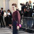 """Clotilde Hesme - Arrivées au défilé de mode """"Chanel"""", collection prêt-à-porter printemps-été 2015, au Grand Palais à Paris. Le 30 septembre 2014  Arrivals at the Chanel fashion show S/S ready-to-wear 2015 at Grand Palais in Paris. On september 30th 201430/09/2014 -"""