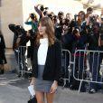 Alexa Chung au défilé Chanel à Paris le 30 septembre 2014