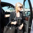 Jessica Simpson et son mari Eric Johnson arrivent à l'aéroport LAX de Los Angeles. Le 29 septembre 2014