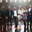 "Cali, David hallyday, Morgan Serrano, Cathy Guetta, Fautine Bollaert, Guillaume Pley - Deuxième prime de ""Rising Star"" sur M6. Le 2 octobre 2014."