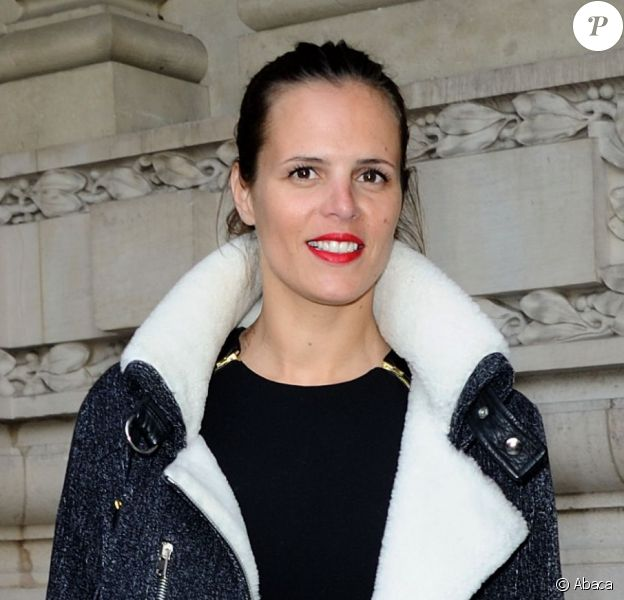Laure Manaudou lors du défilé Guy Laroche automne/hiver 2014/2015 au Grand Palais à Paris, le 26 février 2014