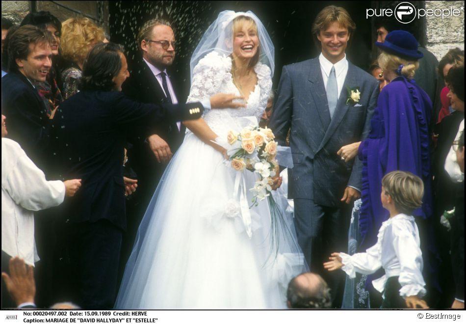 mariage de david hallyday et estelle lef bure le 15 septembre 1989. Black Bedroom Furniture Sets. Home Design Ideas