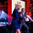 """""""Taylor Swift entraîne Antoine de Caunes dans une danse survoltée sur Shake it off, dans Le Grand Journal, le lundi 6 octobre 2014, sur Canal+"""""""
