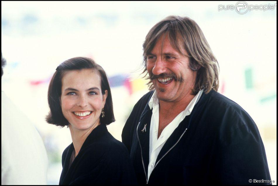 Gérard Depardieu et Carole Bouquet lors du Festival de Cannes 1989