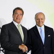 """Arnold Schwarzenegger : Quand Terminator devient """"Innovator"""" pour Laurent Fabius"""
