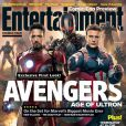 """Couverture du magazine Entertainment Weekly, avec Avengers 2."""