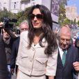 Amal Alamuddin Clooney, la femme du célèbre acteur, arrive au Musée de l'Acropole d'Athènes, le 15 octobre 2014.