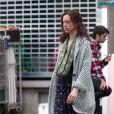 Exclusif - L'actrice Odile Vuillemin, défigurée sur le tournage du téléfilm L'Emprise de Claude-Michel Rome avec Marc Lavoine, à Bruxelles en Belgique le 1er septembre 2014.