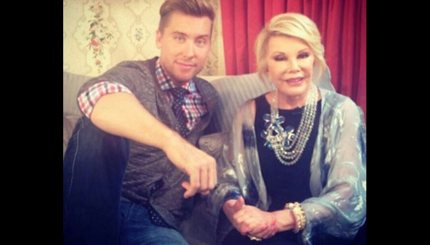 Lance Bass et Joan Rivers. Photo postée par le chanteur le 31 août 2014