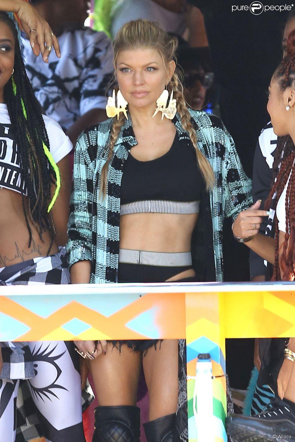 Fergie tourne son nouveau clip dans les rues de Los Angeles, le 19 octobre 2014.