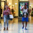Kelly Brook et David McIntosh lors d'une session shopping à Bervely Hills, le 19 octobre 2014