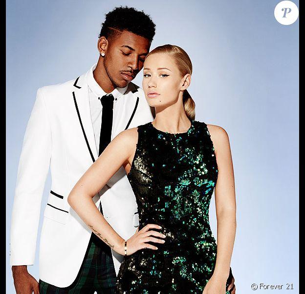 Iggy Azalea et son petit ami basketteur Nick Young, stars de la campagne de fêtes de fin d'année de Forever 21.