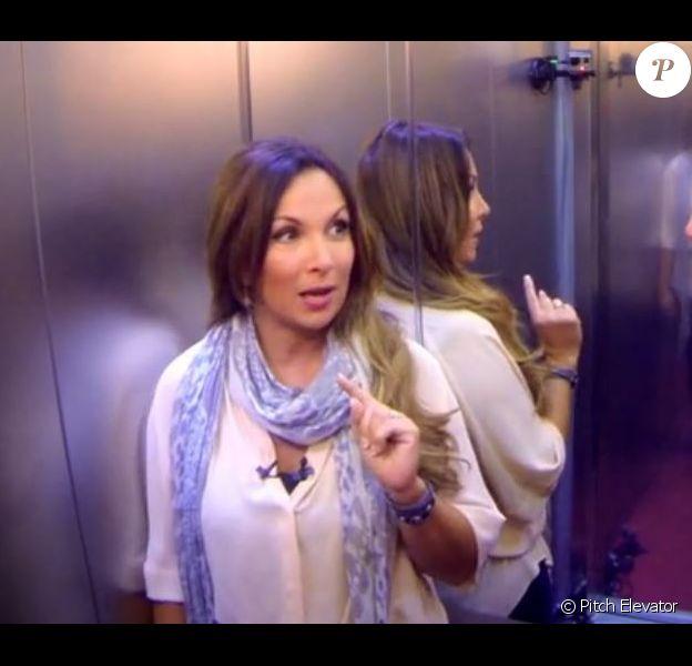 Hélène Ségara dans l'émission Pitch Elevator, octobre 2014