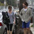 Renée Zellweger accompagnée de son petit ami Doyle Bramhall à Los Angeles le 26 janvier 2013.