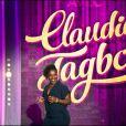 Claudia Tagbo lors de l'enregistrement de la soirée exceptionnelle Ce soir on rit avec Claudia Tagbo. Diffusion le mercredi 29 octobre à 20h50 sur TMC.
