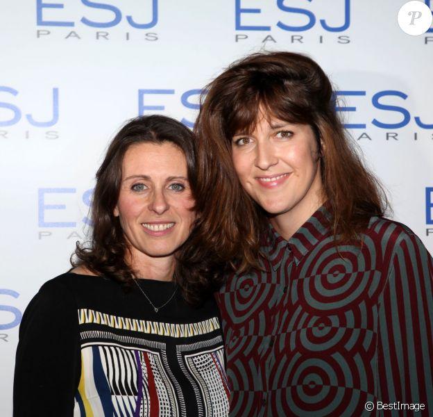 Exclusif - Valérie Fignon, nouvelle chargée de communication de l'ESJ, et Daphné Bürki - Remise des diplômes de l'Ecole Supérieure de Journalisme de Paris dans les salons de la mairie du 13e arrondissement de Paris, le 27 octobre 2014.