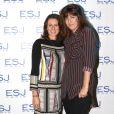 Exclusif - Valérie Fignon et Daphné Bürki - Remise des diplômes de l'Ecole Supérieure de Journalisme de Paris dans les salons de la mairie du 13e arrondissement de Paris, le 27 octobre 2014.