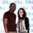 Exclusif - Harry Roselmack et Valérie Fignon - Remise des diplômes de l'Ecole Supérieure de Journalisme de Paris dans les salons de la mairie du 13e arrondissement de Paris, le 27 octobre 2014.