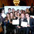 Exclusif - Les diplômés de l'ESJ - Remise des diplômes de l'Ecole Supérieure de Journalisme de Paris dans les salons de la mairie du 13e arrondissement de Paris, le 27 octobre 2014.