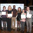 Exclusif - Harry Roselmack et les diplômés - Remise des diplômes de l'Ecole Supérieure de Journalisme de Paris dans les salons de la mairie du 13e arrondissement de Paris, le 27 octobre 2014.