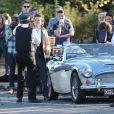 """Tournage d'une scène du nouveau clip du groupe """"One Direction"""" à Londres, le 28 octobre 2014."""