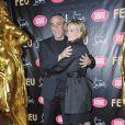 Thierry Ardisson et Audrey Crespo-Mara à la première VIP de la revue  Feu  au Crazy Horse, à Paris, le 12 mars 2012.