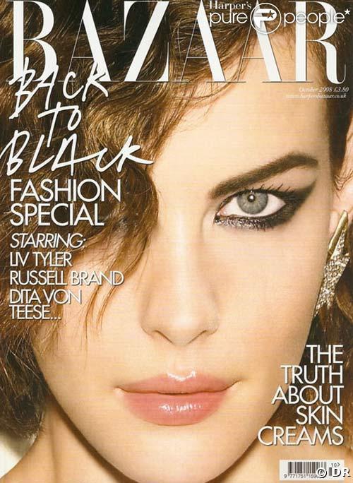 Dita Von Teese dans l'édition UK de Harper's Bazaar, octobre 2008