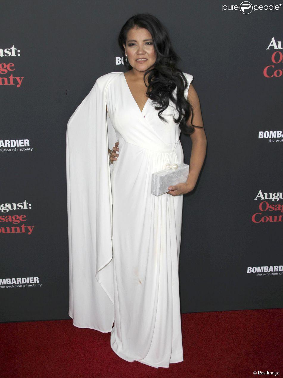 """Misty Upham - Projection du film """"Un été à Osage County"""" à Hollywood, le 16 décembre 2013."""
