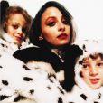 Nicole Richie et ses enfants Harlow et Sparrow déguisés en dalmatiens pour Halloween 2014